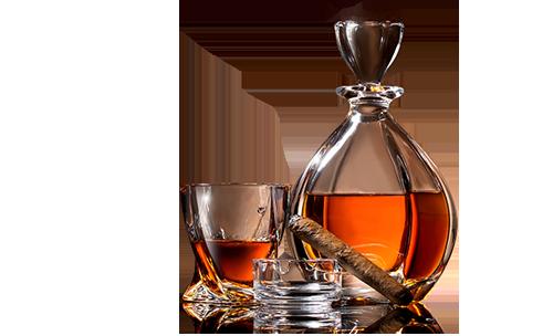 Bottle of liquor of premium quality